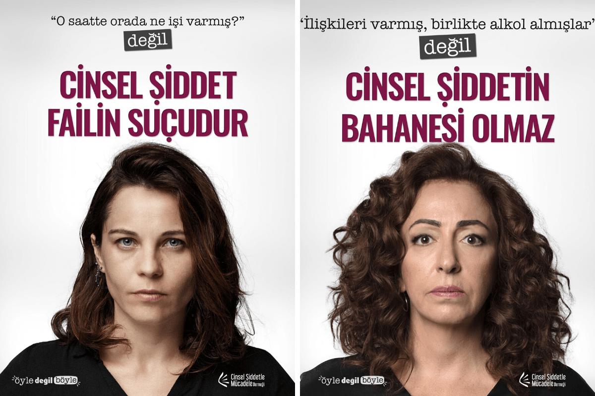 """Cinsel Şiddetle Mücadele Derneği """"Öyle Değil Böyle"""" kampanyası başlattı"""