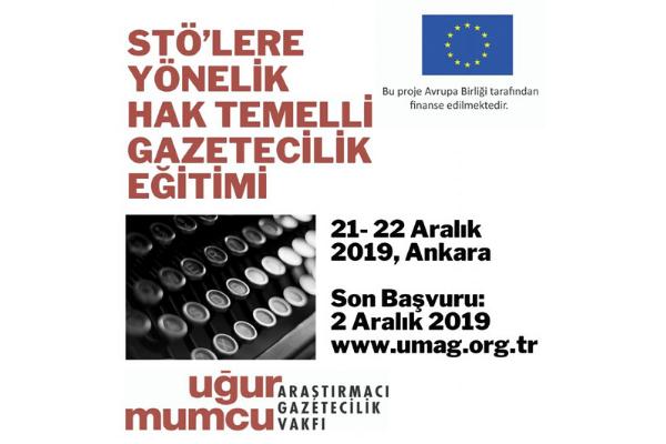 """um:ag """"STÖ'lere yönelik hak temelli gazetecilik eğitimi"""" düzenliyor"""