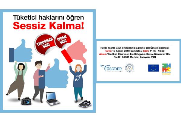 TÜSODER Van'da işitme engellilerle tüketici haklarını tartışıyor